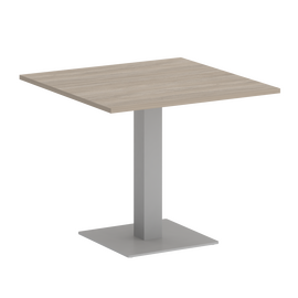 Стол квадратный Home Office Riva VR.SP-5-90.2 Дуб Аттик / Серый мет. 900*900*750, Цвет товара: Дуб Аттик / Серый мет.