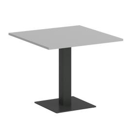 Стол квадратный Home Office Riva VR.SP-5-90.2 Серый  / Антрацит мет. 900*900*750, Цвет товара: Серый / Антрацит мет.
