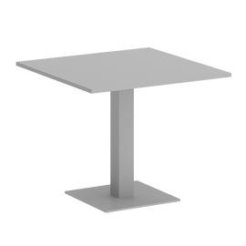 Стол квадратный Home Office Riva VR.SP-5-90.2 Серый  / Серый мет. 900*900*750, Цвет товара: Серый / Серый мет.