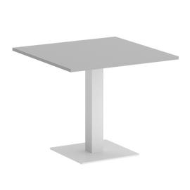 Стол квадратный Home Office Riva VR.SP-5-90.2 Серый  / Белый мет. 900*900*750, Цвет товара: Серый / Белый мет.