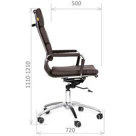 Компьютерное кресло для руководителя Chairman 750 Бордо, Цвет товара: Бордо, изображение 3