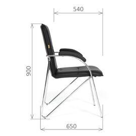 Офисное кресло для посетителей Chairman CH 850 Тёмно-коричневый (Eichel), Цвет товара: Темно-коричневый, изображение 3