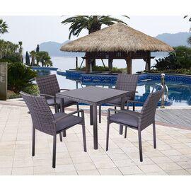 Обеденный комплект из искусственного ротанга (стол и 4 кресла) «PATIO» Ecodesign