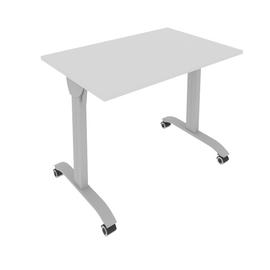 Стол прямой письменный складной мобильный Mobile System Riva СМ-2  Серый 1000*650*757, Цвет товара: Серый