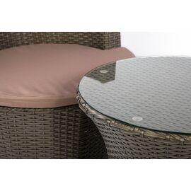 Кофейный комплект (стол и 2 кресла) из искусственного ротанга «PATIO» Ecodesign, изображение 5