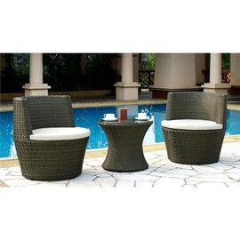 Кофейный комплект (стол и 2 кресла) из искусственного ротанга «PATIO» Ecodesign