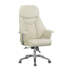 Офисное кресло для руководителя Riva Chair 9501 Натуральная кожа Кремовый, Цвет товара: кремовый
