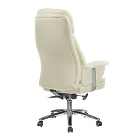 Офисное кресло для руководителя Riva Chair 9501 Натуральная кожа Кремовый, Цвет товара: кремовый, изображение 4