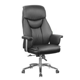 Компьютерное кресло для руководителя Riva Chair 9501 Натуральная кожа Черный, Цвет товара: Черный