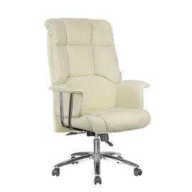Офисное кресло Riva Chair 9502 Натуральная кожа Кремовый, Цвет товара: кремовый