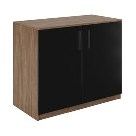 Шкаф низкий широкий ASTI AST33941221 900x450x733 Дуб/Чёрный, Цвет товара: Дуб/Чёрный