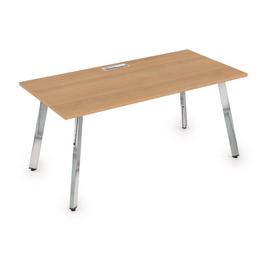 Стол прямой письменный Arredo ALSAV 10СР.089 Romano/Металл глянец 1400х800х750, Цвет товара: Романо / Глянец