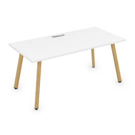 Стол прямой письменный Arredo ALSAV 10СР.074 Белый премиум/Iron wood 1600х700х750, Цвет товара: Белый премиум / Iron wood