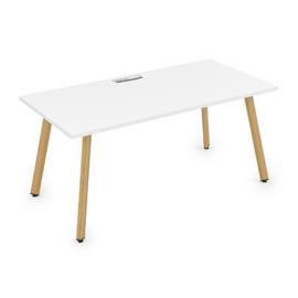 Стол прямой письменный Arredo ALSAV 10СР.089 Белый премиум/Iron wood 1400х800х750, Цвет товара: Белый премиум / Iron wood