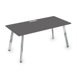 Стол прямой письменный Arredo ALSAV 10СР.074  Graphit matt/Металл глянец 1600х700х750, Цвет товара: Графит матовый / Глянец
