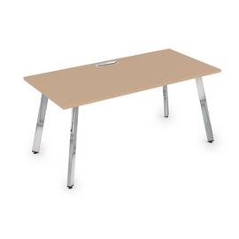 Стол прямой письменный Arredo ALSAV 10СР.089   Mokko/Металл глянец 1400х800х750, Цвет товара: Мокко / Глянец