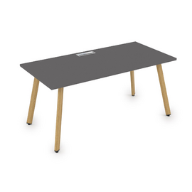 Стол прямой письменный Arredo ALSAV 10СР.074  Graphit matt/Iron Wood  1600х700х750, Цвет товара: Графит матовый / дерево