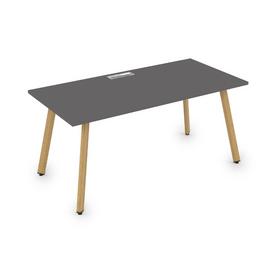 Стол прямой письменный Arredo ALSAV 10СР.089 Graphit matt/Iron Wood  1400х800х750, Цвет товара: Графит матовый / дерево