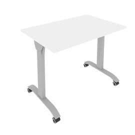 Стол прямой письменный складной мобильный Mobile System Riva СМ-2  Белый 1000*650*757, Цвет товара: Белый