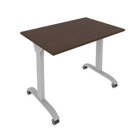 Стол прямой письменный складной мобильный Mobile System Riva СМ-2  Венге 1000*650*757, Цвет товара: Венге