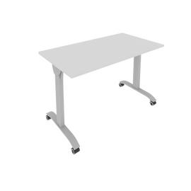 Стол прямой письменный складной мобильный Mobile System Riva СМ-3 Серый 1200*650*757, Цвет товара: Серый