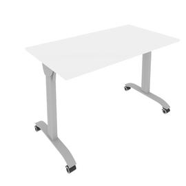 Стол прямой письменный складной мобильный Mobile System Riva СМ-3 Белый 1200*650*757, Цвет товара: Белый