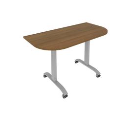 Стол прямой письменный радиусный складной мобильный Mobile System Riva СМ-4.1 Орех 1300*650*757, Цвет товара: Орех