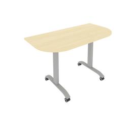 Стол прямой письменный радиусный складной мобильный Mobile System Riva СМ-4.1 Клен 1300*650*757, Цвет товара: Клен