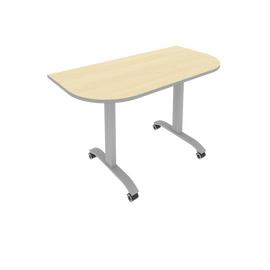 Стол прямой письменный радиусный складной мобильный Mobile System Riva СМ-4.1 Клен/Мультиплекс 1300*650*757, Цвет товара: клен-мультиплекс
