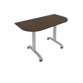 Стол прямой письменный радиусный складной мобильный Mobile System Riva СМ-4.1 Венге 1300*650*757, Цвет товара: Венге