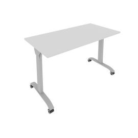 Стол прямой письменный складной мобильный Mobile System Riva СМ-4 Серый 1300*650*757, Цвет товара: Серый