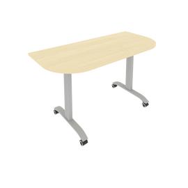 Стол прямой письменный радиусный складной мобильный Mobile System Riva СМ-5.1 Клен 1400*650*757, Цвет товара: Клен