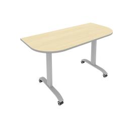 Стол прямой письменный радиусный складной мобильный Mobile System Riva СМ-5.1 Клен/Мультиплекс 1400*650*757, Цвет товара: клен-мультиплекс