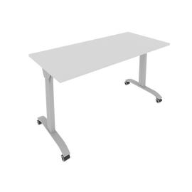 Стол прямой письменный складной мобильный Mobile System Riva СМ-5 Серый 1400*650*757, Цвет товара: Серый