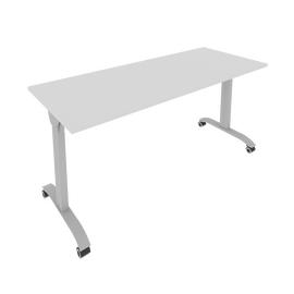 Стол прямой письменный складной мобильный Mobile System Riva СМ-6 Серый 1600*650*757, Цвет товара: Серый