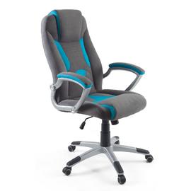 Кресло для геймеров Dikline KD38V Серо-Голубой