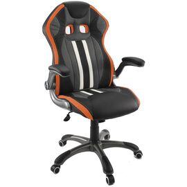 Кресло для геймеров Dikline KD37 Оранжевый, Цвет товара: Чёрный / Оранжевый