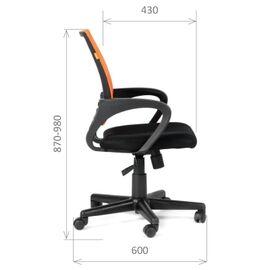 Компьютерное кресло Chairman CH 696 TW красный, Цвет товара: Красный, изображение 3