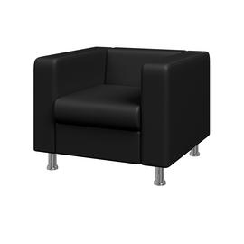 Кресло Алекто MVK ALE1 Экокожа Ecotex 3001черный 920х830х700, Цвет товара: Ecotex 3001 черный