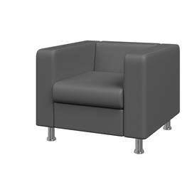 Кресло Алекто MVK ALE1  Экокожа  Ecotex 3022 серый  920х830х700, Цвет товара: Ecotex 3032 серый