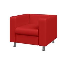 Кресло Алекто MVK ALE1 Экокожа  Ecotex 3023 красный 920х830х700, Цвет товара: Ecotex 3023 красный