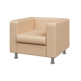 Кресло Алекто MVK ALE1 Экокожа  Ecotex 3028 бежевый  920х830х700, Цвет товара: Ecotex 3028 бежевый