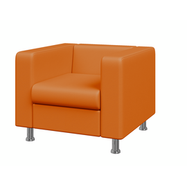 Кресло Алекто MVK ALE1 Экокожа Oregon 20 оранжевый 920х830х700, Цвет товара: Oregon 20 (экокожа 1 кат.)