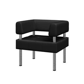 Кресло Бизнес MVK Bu1-2  Ecotex 3001черный 770х620х770, Цвет товара: Ecotex 3001 черный