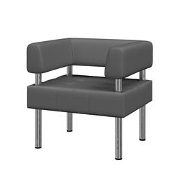 Кресло Бизнес MVK Bu1-2 Oregon 17 серый 770х620х770, Цвет товара: Oregon 17