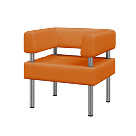 Кресло Бизнес MVK Bu1-2 Oregon 20 оранжевый 770х620х770, Цвет товара: Oregon 20 (экокожа 1 кат.)