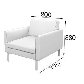 Кресло Олли MVK OL1 800х777х880 Romeo 13 опоры черный матовый, изображение 2