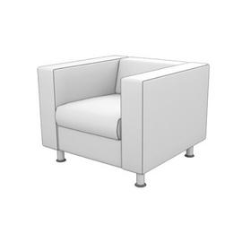Кресло Алекто MVK ALE1  Экокожа  Ecotex 3022 серый  920х830х700, Цвет товара: Ecotex 3032 серый, изображение 2