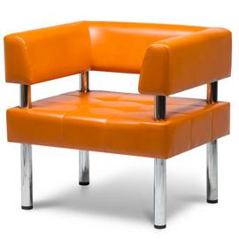 Кресло Бизнес MVK Bu1-2  Art-vision 129 оранжевый 770х620х770, Цвет товара: ART-VISION 129