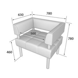 Кресло Бизнес MVK Bu1-2  Ecotex 3001черный 770х620х770, Цвет товара: Ecotex 3001 черный, изображение 2